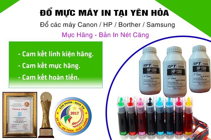 Đổ mực máy in tại Yên Hòa