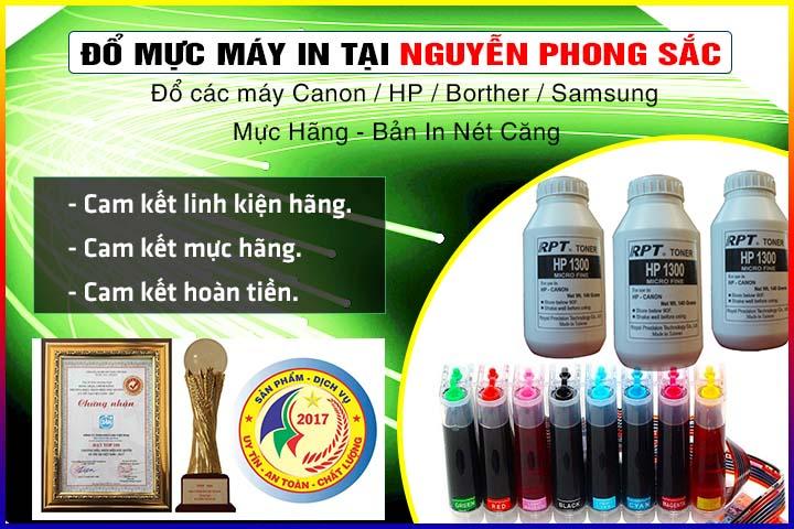 Đổ mực máy in tại Nguyễn Phong Sắc