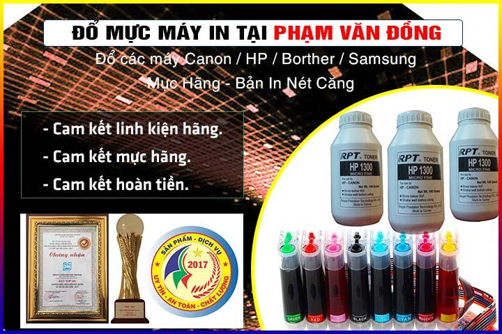 Đổ mực máy in tại Phạm Văn Đồng