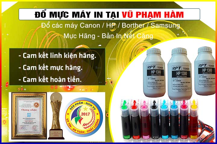 Đổ mực máy in tại Vũ Phạm Hàm